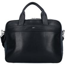 Braun Büffel Golf Aktentasche Leder 39 cm Laptopfach schwarz
