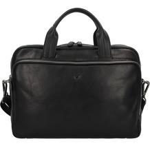 Braun Büffel Parma Aktentasche Leder 37 cm Laptopfach schwarz