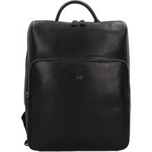 Braun Büffel Parma Businessrucksack Leder 40 cm Laptopfach schwarz