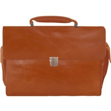 Braun Büffel Texas Aktentasche Leder 43 cm Laptopfach cognac