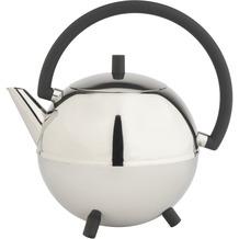 Bredemeijer doppelwandige Teekanne Duet® Saturn Edelstahl glänzend, schwarze Beschläge 1.2 ltr.
