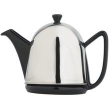 Bredemeijer Steingut-Teekanne Cosy® Manto schwarz mit filzisoliertem Edelstahlmantel hochglanzpoliert 1,0 ltr.
