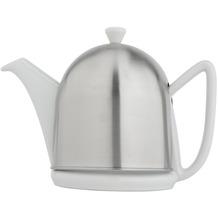 Bredemeijer Steingut-Teekanne Cosy® Manto weiß mit filzisoliertem Edelstahlmantel matt gebürstet 1,0 ltr.