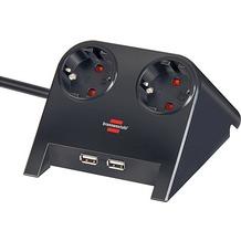 Brennenstuhl Desktop-Power USB-Charger Tisch-Steckdose schwa