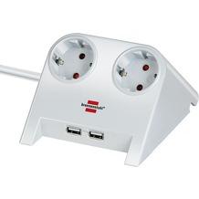 Brennenstuhl Desktop-Power USB-Charger Tisch-Steckdose weiß