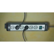 Brennenstuhl Premium-Line 4-fach schwarz/grau 5 m