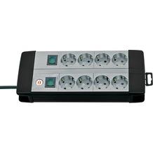 Brennenstuhl Premium-Line Technik 8-fach Duo schwarz/grau