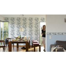 Brigitte Home Unitapete, Vliestapete, blau 10,05 m x 0,53 m