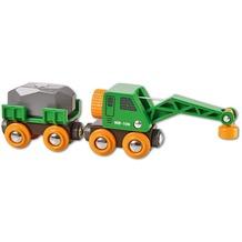 BRIO Grüner Kranwagen mit Anhänger