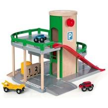 BRIO Parkhaus, Straßen und Schienen
