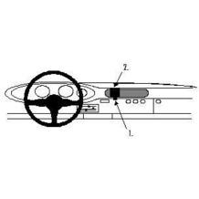 Brodit ProClip - PORSCHE 911 Baujahr 1977-1998 (Montage mittig)