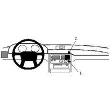 Brodit ProClip - MITSUBISHI Space Wagon Baujahr 1992-1998 (Montage mittig)
