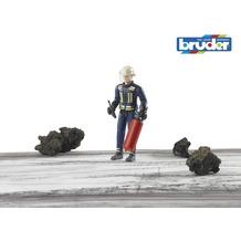 Bruder Feuerwehrmann mit Helm, Handschuhen und Zubehör