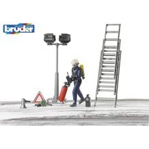 Bruder Figurenset Feuerwehrmann mit Atemschutzausrüstung und Zubehör