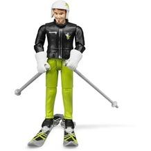 Bruder Skifahrer mit Zubehör