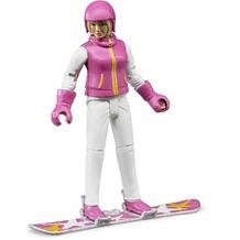 Bruder Snowboardfahrerin mit Zubehör