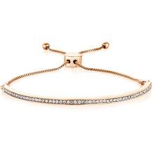 Buckley London Armband Messing rosévergoldet mit Kristallen Größe S/M rosa 20787