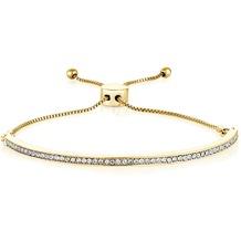 Buckley London Armband Messing vergoldet mit Kristallen Größe S/M gelb 20785
