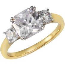 Buckley London Ring Messing vergoldet mit Kristallen gelb 13675 50 (15,9)