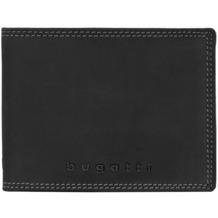Bugatti Caracas Querformat Herren Geldbörse 493.426 Leder 12,5 cm mit Klappfach und Reißverschlussfach black