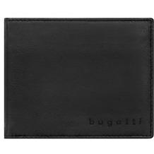 Bugatti Lima Geldbörse Leder 12 cm mit Klappfach schwarz