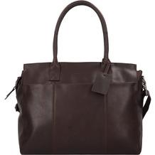 Burkely Vintage Doris Aktentasche Leder 39 cm Laptopfach brown