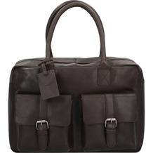 Burkely Vintage Finn Aktentasche Leder 39 cm Laptopfach brown