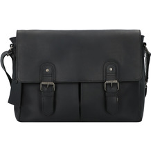 Burkely Vintage Glenn Messenger Leder 39 cm black