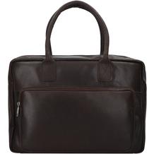 Burkely Vintage Mitch Aktentasche Leder 39 cm Laptopfach brown