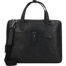 Burkely Vintage Noa Aktentasche Leder 36 cm Laptopfach black