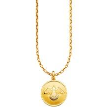 Cai Anhänger mit Kette 925/- Sterling Silber vergoldet Zirkonia Taube gelb 22341