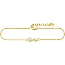 Cai Armband 925/- Sterling Silber vergoldet Zirkonia Pfeile gelb 22309