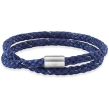 Cai Armband Edelstahl Textil blau 23cm Magnetverschluß  22303