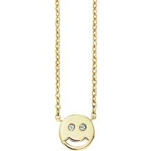 Cai Collier 925/- Sterling Silber vergoldet Zirkonia Emoji gelb 20685
