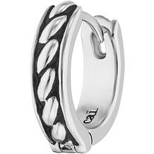 Cai Creolen 925/-Sterling Silber rhodiniert Farbe schwarz weiß 20931