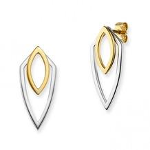 Cai Ohrstecker 925/-Sterling Silber bicolor zweiteilig mehrfarbig 20347