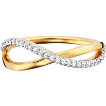 Cai Ring 925/- Sterling Silber gelb vergoldet Topas  21137 50 (15,9)