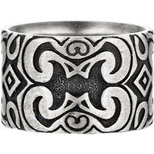 Cai Ring 925/- Sterling Silber oxidiert matt Amerika Silbergrau 22033 58 (18,5)