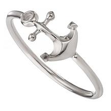 Cai Ring 925/- Sterling Silber rhodiniert Anker weiß 21695 48 (15,3)