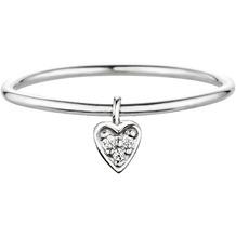 Cai Ring 925/- Sterling Silber rhodiniert Herz mit Zirkonia Silbergrau 20735 50 (15,9)
