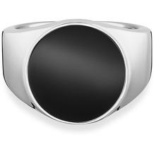 Cai Ring 925/- Sterling Silber rhodiniert Onyx weiß 21245 58 (18,5)