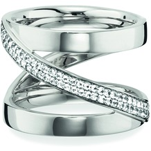 Cai Ring 925/- Sterling Silber rhodiniert  Topas weiß  20755 50 (15,9)