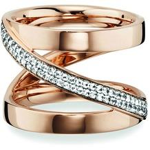 Cai Ring 925/- Sterling Silber rotvergoldet Topas weiß  20753 50 (15,9)