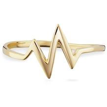 Cai Ring 925/- Sterling Silber vergoldet Herzschlag gelb 21763 50 (15,9)