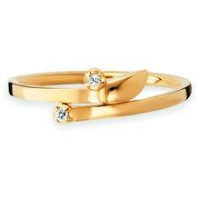 Cai Ring 925/- Sterling Silber vergoldet Topas gelb 20761 50 (15,9)