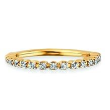 Cai Ring 925/- Sterling Silber vergoldet Topas weiß gelb 20763 50 (15,9)
