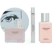 Calvin Klein Women Giftset Edp Spray 100ml / Edp Spray 10ml / Body Lotion 100ml 210 ml