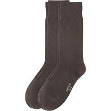 Camano Cotton Business socks 2er Pack, dark brown 39/42