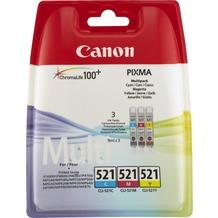 Canon Tinten Multipack CLI-521C/521M/521Y