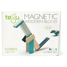 Tegu Magnetisches Holzset blau 14 Teile